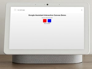 Google Assistant Interactive Canvas Control Easy Example