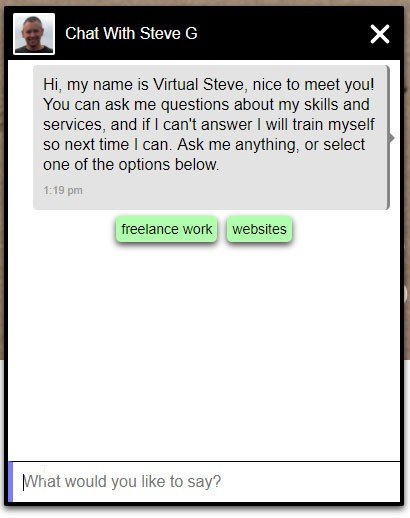 Qna Client Chat Bot Window On A Website